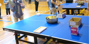 スリッパ卓球